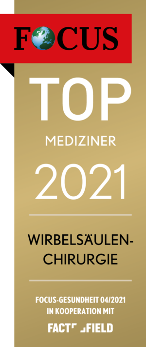 Focus Siegel 2021 Top Mediziner Wirbelsäulenchirurg